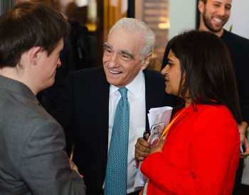 Meeting film legend Martin Scorsese after he gave his David Lean lecture at Covent Garden