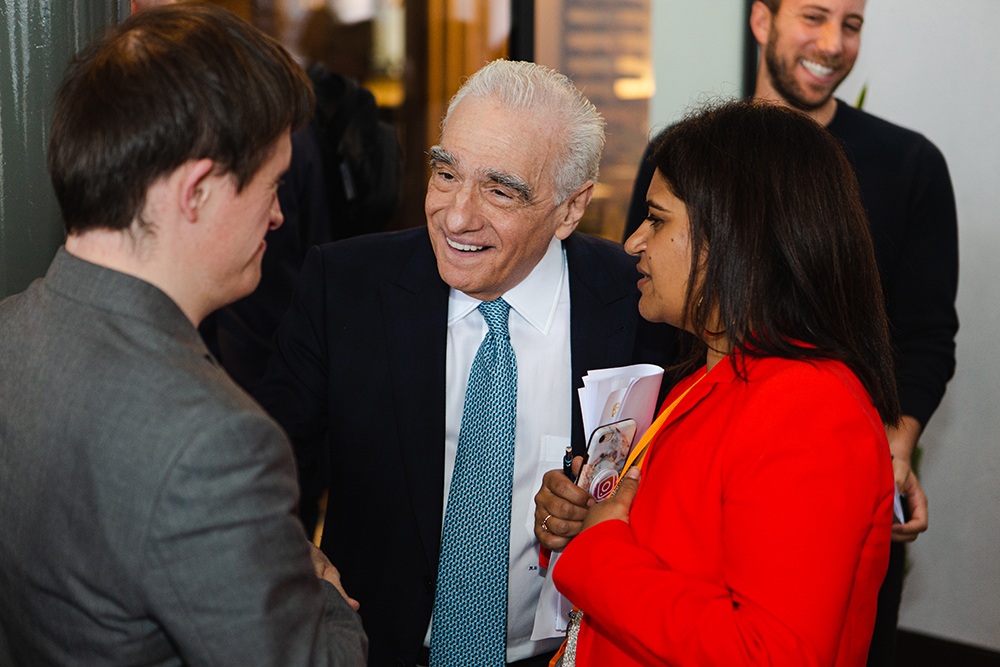 It was brilliant meeting this great director, Martin Scorsese, after his David Lean lecture at Covent Garden.