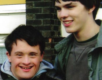 With Nicholas Hoult on the set of COMING DOWN THE MOUNTAIN