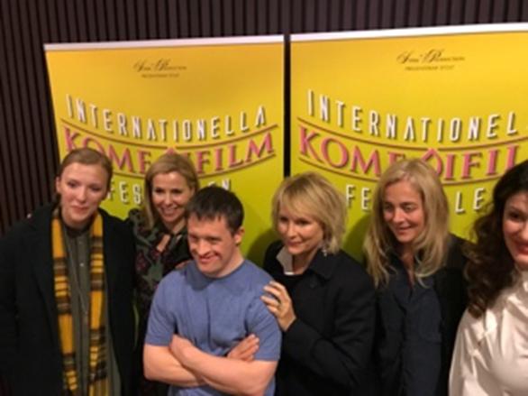 Speaking at the Stockholm Internationel Komedi Film Festival.