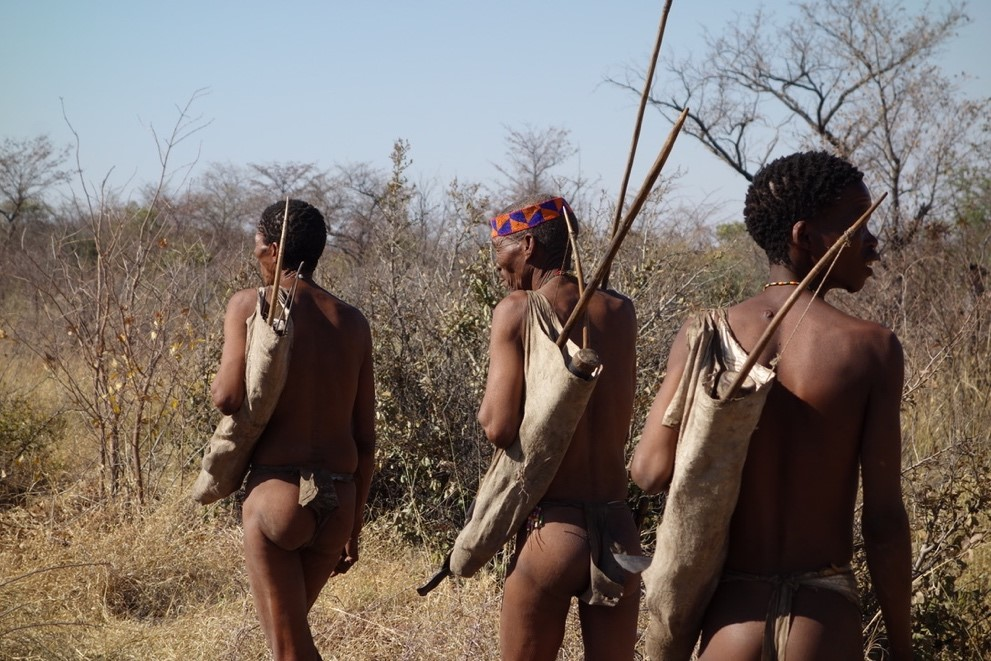Just back from hunting with the Bushmen in Namibia.